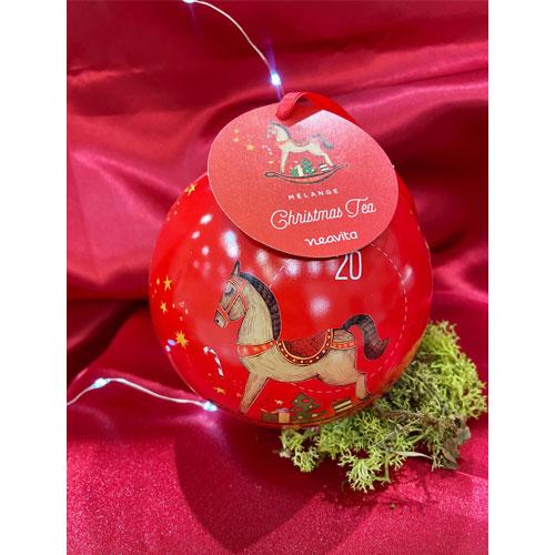 Palla di Natale Rossa con Infuso Neavita