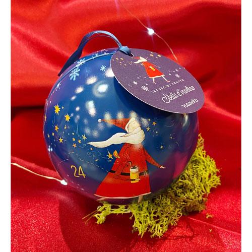 Palla di Natale Blu con Infuso Neavita