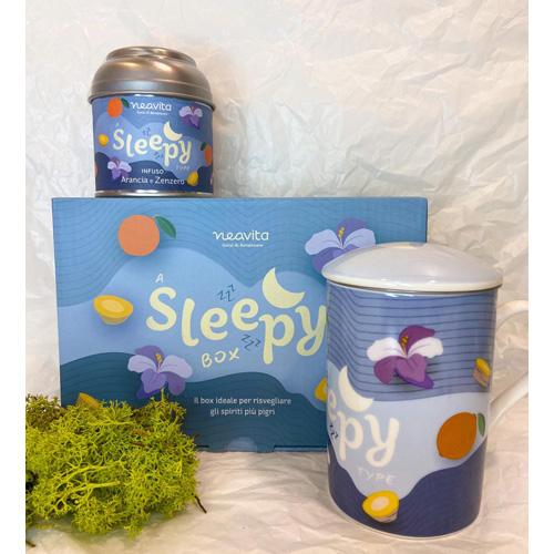 Sleepy Box: infusiera in ceramica e barattolo con infuso Arancia e Zenzero